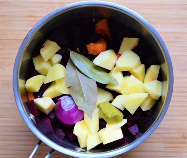 Beetroot soup ingredients