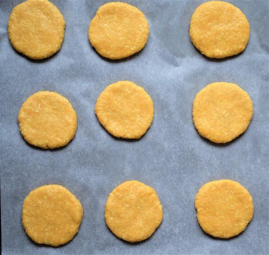 Cookies dough in a baking trey