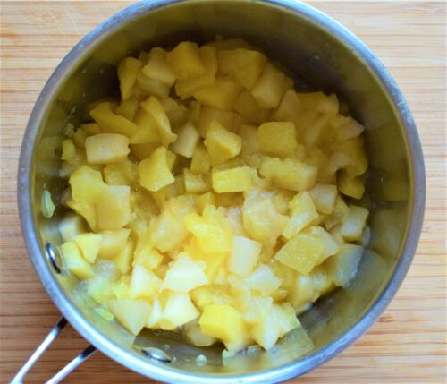 Simmered apple chunks