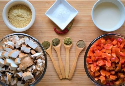 Filling ingredients prepared in advance