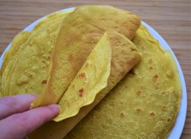 Vegan crepes plate