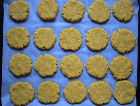 Uncooked quinoa chickpea patties