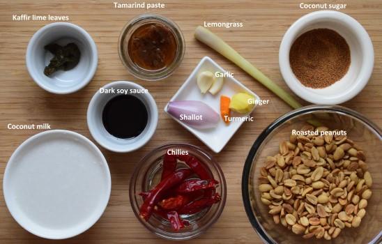 Spicy peanut sauce ingredients