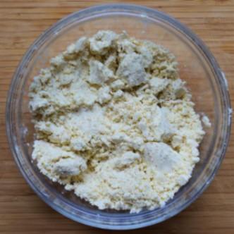 Mixing pie dough ingredients
