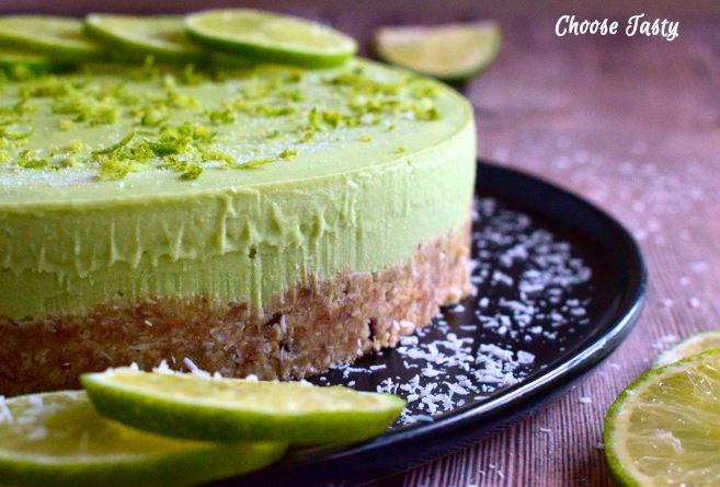 No-bake avocado lime tart