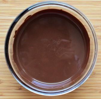 Melted vegan chocolate