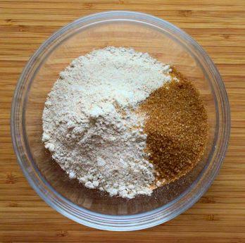 Galette crust dry ingredients: spelt flour, all purpose flour, sugar, salt