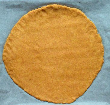 Rolled galette dough