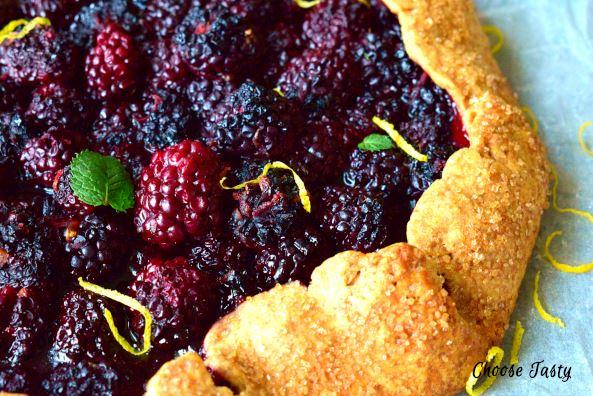 Vegan blackberry lemon galette